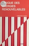 Christian Vauge - Lexique des énergies renouvelables.