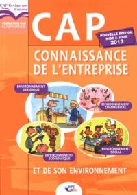 Christiane Balanger - Connaissance de l'entreprise et de son environnement CAP Restaurant Cuisine.