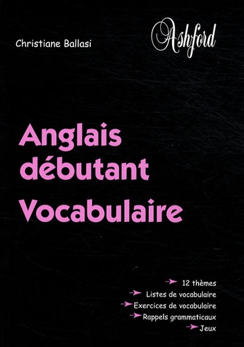 Anglais Debutant Vocabulaire