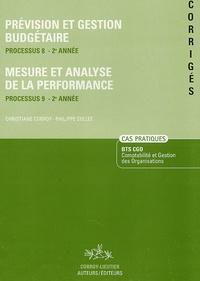 Christiane Corroy et Philippe Collet - Prévision et gestion budgétaire Processus 8-2e Année ; Mesure et analyse de la performance Processus 9-2e Année - Corrigés.