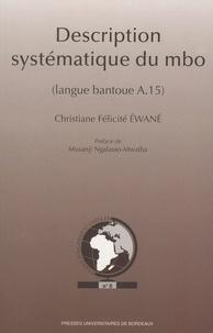 Christiane Félicité Ewané - Description systématique du mbo (langue bantoue A.15).