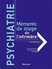 Christiane Prudhomme - Mémento de stage de l'infirmière : psychiatrie.