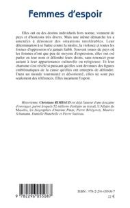 Christiane Rimbaud - Femmes d'espoir - Leur combat pour les Droits de l'Homme.