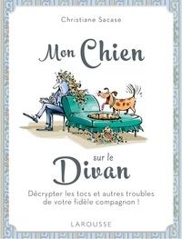 Christiane Sacase - Mon chien sur le divan.