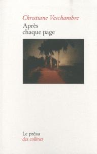 Christiane Veschambre - Après chaque page.