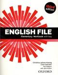 Christina Latham-Koenig et Clive Oxenden - English File - Elementary Workbbok with Key.