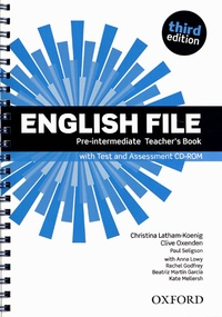 Christina Latham-Koenig et Clive Oxenden - English File - Pre-intermediate teacher's book. 1 Cédérom