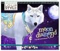 Christine Alcouffe - Loup Style Moon Diamond - + de 500 autocollants.