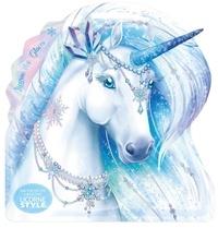 Christine Alcouffe - Ma pochette créative Licorne des glaces - Avec 1 bâtonnet licorne.