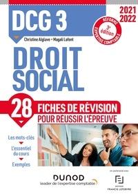 Christine Alglave et Magali Lafont - DCG 3 Droit social - Fiches de révision - 2021/2022 - Réforme Expertise comptable.