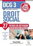Christine Alglave et Magali Têtard - Droit social DCG 3 - Fiches de révision.
