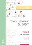 Christine Alglave et Pascal Lainé - Fondamentaux du droit DCG 1 - Corrigé, cas pratiques.