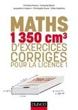Christine Amory et Françoise Bastin - Mathématiques - 1350 cm3 d'exercices corrigés pour la licence 1.