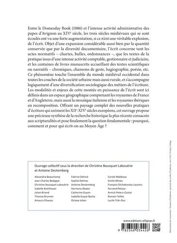 Ecrit, pouvoirs et société en Occident aux XIIe-XIVe siècles (Angleterre, France, Italie, péninsule ibérique)