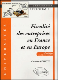 Christine Collette - Fiscalité des entreprises en France et en Europe.
