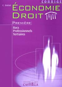 Economie Droit 1e bacs professionnels tertiaires - Corrigé.pdf