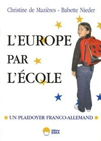 Galabria.be Et si on recommençait l'Europe par l'école ? - Plaidoyer franco-allemand Image
