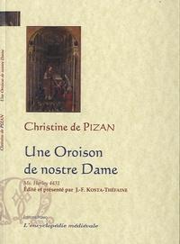 Christine de Pizan - Une Oroison de nostre Dame - Manuscrit Harley 4431.