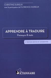 Christine Durieux - Apprendre à traduire - Prérequis et tests.