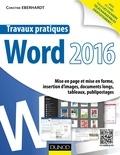 Christine Eberhardt - Travaux pratiques avec Word 2016 - Mise en page et mise en forme, insertion d'images, documents longs, tableaux, publipostages.