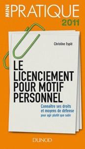 Christine Espié - Le licenciement pour motif personnel.