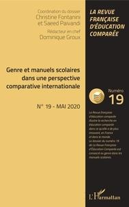 Christine Fontanini et Saeed Paivandi - Raisons, comparaisons, éducations N° 19, mai 2020 : Genre et manuels scolaires dans une perspective comparative internationale.