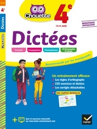 Christine Formond - Dictées 4e - cahier d'entraînement en orthographe.