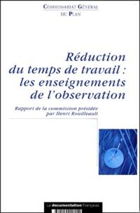 Christine Gavini et Henri Rouilleault - Réduction du temps de travail : les enseignements de l'observation.