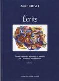 Christine Jolivet-Erlih - Les écrits d'andré jolivet 2 volumes.