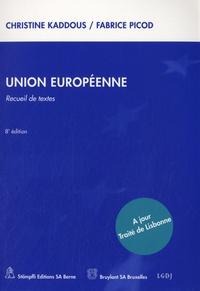 Accentsonline.fr Union européenne. - Recueil de textes Image