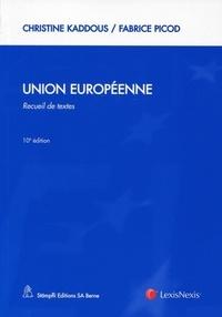 Galabria.be Union européenne - Recueil de textes Image