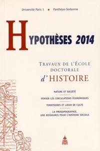 Christine Lebeau - Hypothèses 2014 - Travaux de l'Ecole doctorale d'histoire.
