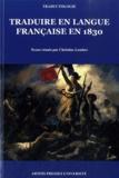 Christine Lombez - Traduire en langue française en 1830.