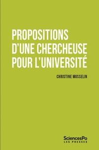 Christine Musselin - Propositions d'une chercheuse pour l'Université.
