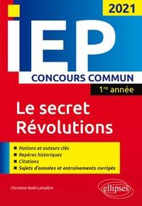 Histoiresdenlire.be Le secret - Révolutions - Concours commun IEP 1re année Image