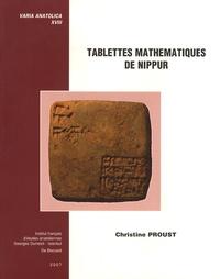 Christine Proust - Tablettes mathématiques de Nippur. 1 Cédérom