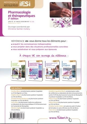 Pharmacologie et thérapeutiques. UE 2.11, semestres 1, 3 et 5 2e édition