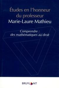 Christophe Albiges et Stéphane Benilsi - Etudes en l'honneur du professeur Marie Laure Mathieu - Comprendre : des mathématiques au droit.