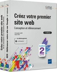 Christophe Aubry et Marie Prat - Créez votre premier site web, conception et référencement - Coffret en 2 volumes : Créez votre premier site web, de la conception à la réalisation ; SEO : Référencer de votre site sur Google.