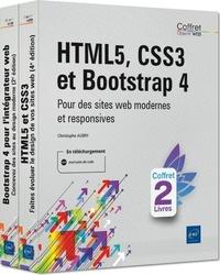 Christophe Aubry - HTML5, CSS3 et Bootstrap 4 - Coffret en 2 volumes : Pour des sites web modernes et responsives.