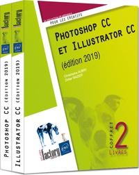 Christophe Aubry et Didier Mazier - Photoshop CC et Illustrator CC - Coffret en 2 volumes.