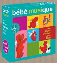 Christophe Bonacorsi - Bébé musique - Coffret 5 livres-CD : Piano ; Opéra ; Classqiue ; Mozart ; Jazz. 5 CD audio