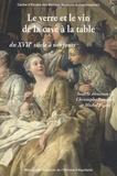 Christophe Bouneau et Michel Figeac - Le verre et le vin de la cave à la table du XVIIe siècle à nos jours.