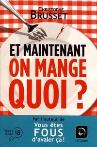 Manuels pdf télécharger Et maintenant, on mange quoi ?  - Un ancien industriel de l'agroalimentaire vous aide à faire les bons choix par Christophe Brusset 9782848689005 CHM iBook