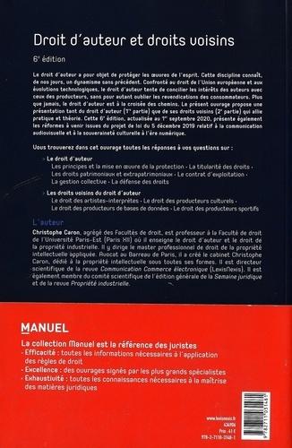 Droit d'auteur et droits voisins 6e édition