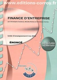 Finance d'entreprise UE 6 du DCG- Enoncé - Christophe Castéras |