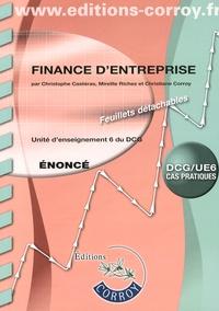 Ucareoutplacement.be Finance d'entreprise UE 6 du DCG - Enoncé Image