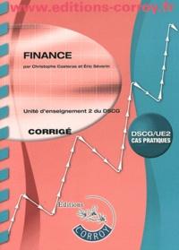 Christophe Castéras - Finance UE 2 du DSCG - Corrigé.