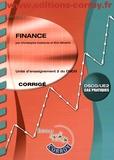 Christophe Castéras et Eric Séverin - Finance UE 2 du DSCG - Corrigé.