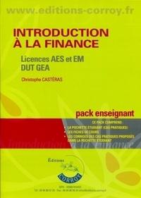 Christophe Castéras et Mireille Richez - Introduction à la finance Licences AES et EM DUT GEA - Pack enseignant.